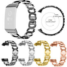Luxury Replacement Stainless Steel Bracelet Watch Band Strap For Fitbit Charge 3