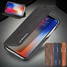For iPhone 8 7 Plus 6s Case Luxury Magnetic Flip Leather Card Slot Phone Cover