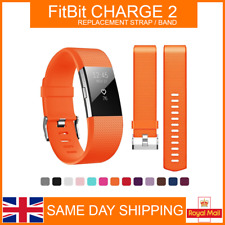 Replacement Strap For Fitbit Charge 2 Sports Watch Wristband Soft Wrist Band UK