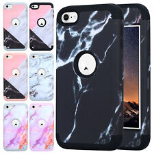 Marble Pattern Hybrid Shockproof Silicone Case Cover For iPod Touch 5th 6th Gen