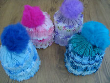 b58800df3c1 Hand Knitted childs bobble hat multi colours   texture age 1-3 years approx  43cm