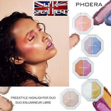 PHOERA® 2 In 1 Highlighter Duo Shimmer Face Foundation Cream Powder Palette UK