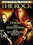 The Rock Action Pack (Doom / The Rundown / The Scorpion King) Johnson, Dwayne,