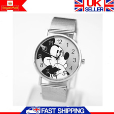 Women Ladies Girl Stainless Steel Mickey Mouse Dial Quartz Wrist Watch Gift UK