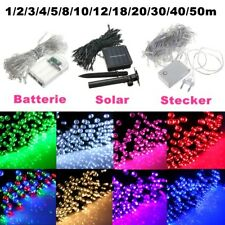 1-50M LED Battery/Solar Fairy String Lights Outdoor Wedding Christmas Patio