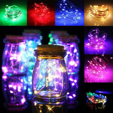 10 LED Battery Power Flexible Silver String Lights Lamp Party Garden Decoration
