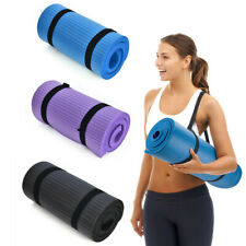 15mm Thick Yoga Mat Exercise Fitness Pilates Camping Gym Meditation Pad Non-Slip
