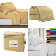 Clara Clark Premier 1800 Series 4Pc Bed Sheet Set - Cal King, Camel Gold,