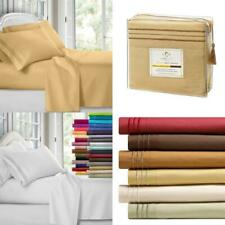Clara Clark 1800 Premier Series 4Pc Bed Sheet Set - King, Camel Gold