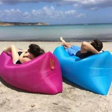 Beach Bean Inflatable Lazy Air Bed Camping Lounger Couch Chair Hangout Sofa Bag