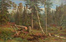 The Dark Wood by Russian Artist Ivan Shishkin Forests Repro on Canvas or Paper