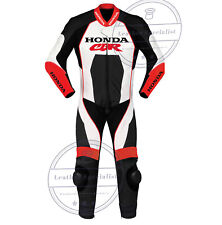 Handmade Men's Honda CBR Red & Black Motorcycle Racing Biker New Leather Suit
