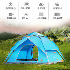 🔥Automatic 3-4 Man Person Family Tent Camping Anti-UV Waterproof Shelter Hiking