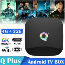 Q plus 6K 4+32G Android 9.0 Smart TV Box Quad Core WIFI Media Player Streamer US