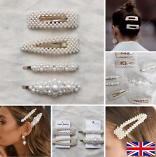 Womens oversized pearl hair accessories gold *NEW*UK SELLER*