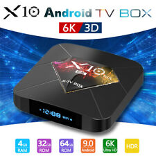 Smart TV Box X10 PLUS 6K Android 9.0 H6 Quad Core 4+64GB WiFi Media Player 2019