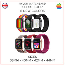 Apple iWatch Series 4/3/2/1 Nylon Replacement Strap Sports Loop 38-42MM