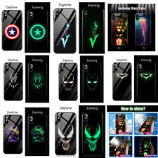 Avengers Marvel Luminous Tempered Glass Case For iPhone X XS MAX XR 10 6-S 7 8
