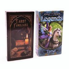 78 Cards English Spanish Tarot Deck Playing Board Game Legends Table Family Gift
