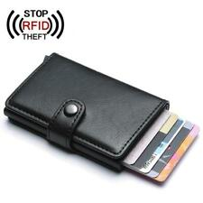 Men Credit Card Holder RFID Blocking PU Leather Automatic Business ID Card Holde