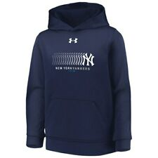 Under Armour New York Yankees Youth Navy Fleece Performance Pullover Hoodie