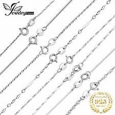 925 Sterling Solid Silver Snake Chain Necklace For Pendant Making Jewelry Gift