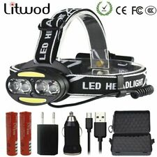 Headlight 30000LM headlamp Red LED Flashlight Torch Lanterna For Outdoor Camping