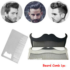 Anti static Beard Comb Hairdressing Styling  Hair Mustaches Brush Double Side