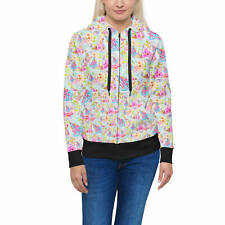 Women's Zip Hoodie - Beach Time Aloha Surfboard