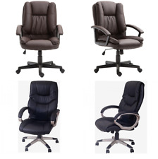 Executive PU Leather Office Managers Chair Adjustable Lift Swivel Computer PC