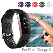 Fitbit Charge 3 Bands Sports Watch Replacement Wrist Strap with Breathable Holes