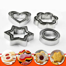 12/5Pcs Metal Cookie Biscuit Cutters Set Cake Mould Decorating Pastry Sugarpaste