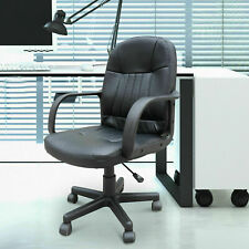 Adjustable Home Office Swivel Chair Executive Computer Desk Armrest PU Leather