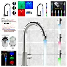 Faucet LED Glow Water Tap Temperature Color Sensor Shower Kitchen Night Light