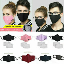 Washable Cotton Face Shield Fog-free Glasses Anti Dust Pollution Filter UK