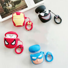 3D Cute Earphone Marvel Avengers Ring Silicone Protective Case For Apple Airpods