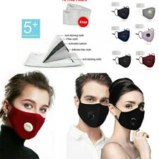 Reusable Anti Pollution Allergy Anti Smoke with Filters Cover Washable