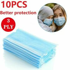 10PCS Face Mask Mouth Masks Cover Filter Respirator Air Pollution Protection UK