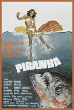 Piranha 1978 movie poster T SHIRT  Men's All SIZES killer fish horror cult