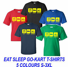 EAT SLEEP GO-KART FUNNY KARTING T-SHIRT ALL SIZES AND COLOURS