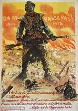 WA81 Vintage WWI French Propaganda They Shall Not Pass War Poster WW1 A1 A2 A3