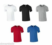 "Gildan 3 Pack Softstyle Mens T Shirts 100% Cotton Choose Colours Sizes 36"" - 52"""