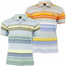 Bench Mens Polo T-Shirt 'Shanker' Yarn Dye Stripe Short Sleeved