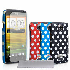 Mobile Madhouse Accessories HTC One X Hard Back Polka Dot Case Cover Skin UK