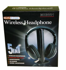 Casque sans Fil 5 en 1 Wireless Headphone TV HIFI PC CHAT TRANSMETTEUR FM MP3!