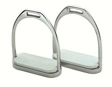Shires Wessex Stirrup Irons Stainless Steel with Treads