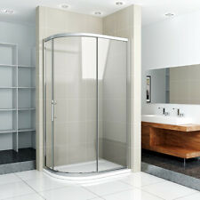 New Style Shower Enclosure Quadrant Corner Cubicle Glass Screen Door Stone Tray