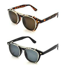 VTG 50's Style Removable Lens Black Wayfarer Sunglasses Retro Glasses Steampunk