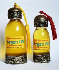 100% Pure Organic ARGAN OIL  Moroccan Skin, Body & Hair - handmade glass bottles