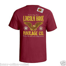 LINCOLN HAWK HAULAGE CO MENS T-SHIRT OVER THE TOP INSPIRED FILM NEW 27